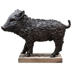 Baby Wild Boar Sculpture