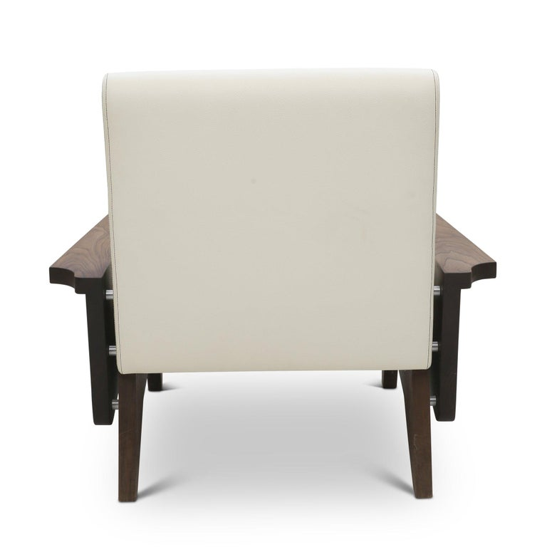American Babylon Midcentury Inspired Walnut Lounge Chair For Sale