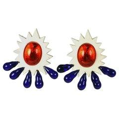 Babylone Paris Massive 80's Sunburst Earrings
