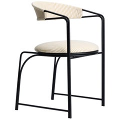 Bacall, Indoor/Outdoor Powder-Coated Stainless Steel Dining Chair by Laun