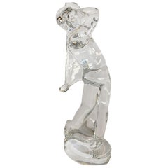 Baccarat Art Glass Male Golfer Crystal Figurine the Perfect Gift