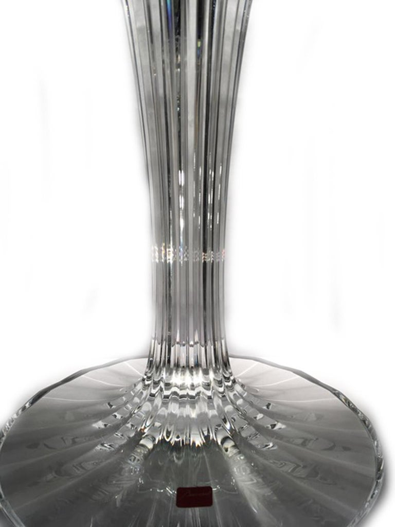 Baccarat Clear Crystal Mill Nuits French Mathias Design Candelabra For Sale 5