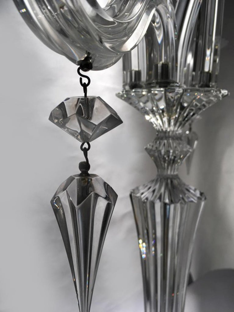 Baccarat Clear Crystal Mill Nuits French Mathias Design Candelabra In New Condition For Sale In Brescia, IT