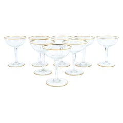 Baccarat Crystal Barware Coupe Service / Eight People