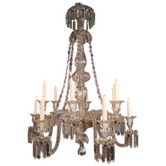 Baccarat Crystal Chandelier at 12 Lights 19th Century