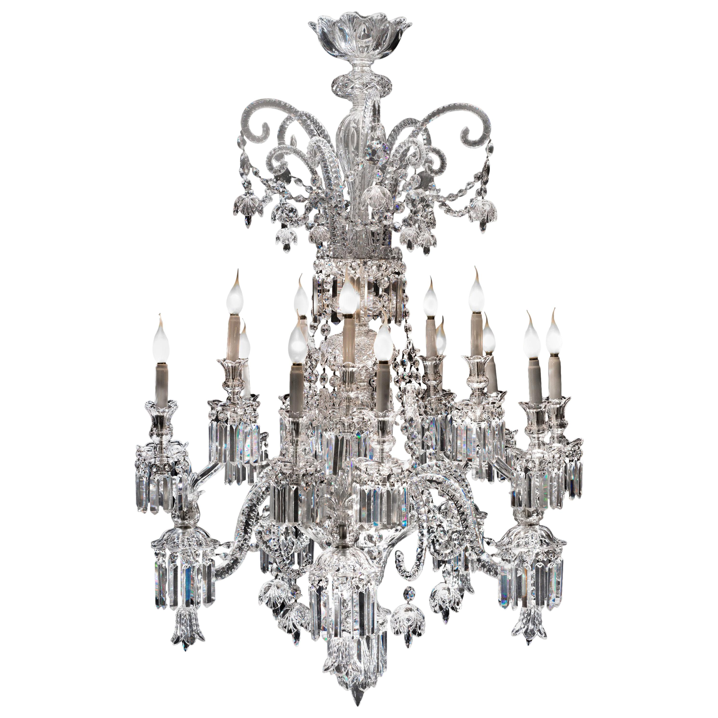 Baccarat Crystal Exceptional Chandelier, France, Early 19th Century