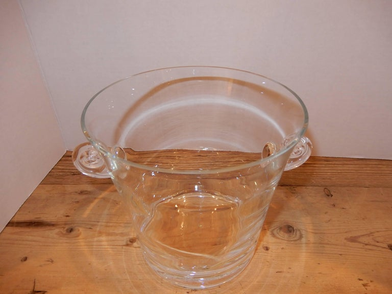 Mint condition Baccarat crystal ice bucket, 1960s.