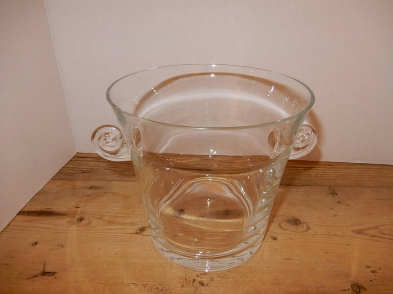 Art Nouveau Baccarat Crystal Ice Bucket, 1960s For Sale