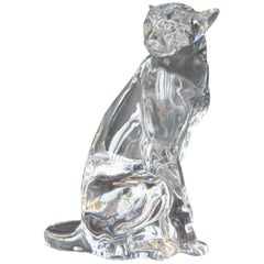 Baccarat Crystal Panther Figure