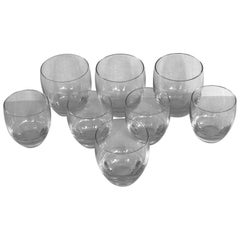 Baccarat Crystal Perfection Pattern Tumblers Grouping of 8, France, 1970s