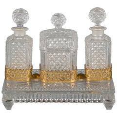 Baccarat Crystal Perfume Set, circa 1880