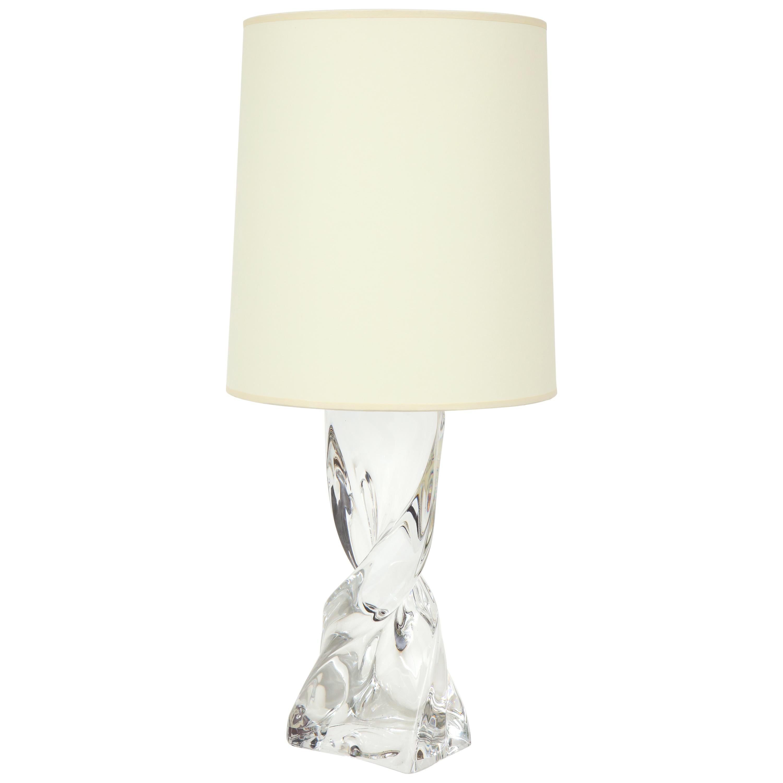 Lamp Baccarat Crystal French Table Column Midcentury Monumental XiOZuPk