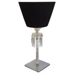 "Baccarat Crystall Arik Levy ""Torch"" Black Lampashade Lamp, France, 2015"
