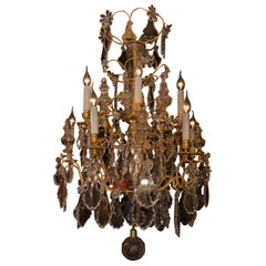 Baccarat French 18th Century Style Gilt-Bronze and Crystal Chandelier