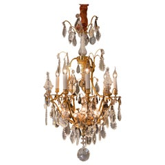 Baccarat, French Louis XVI Style Gilt-Bronze and Crystal Chandelier, circa 1920