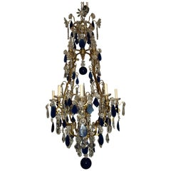 Baccarat Gilt Bronze Chandelier