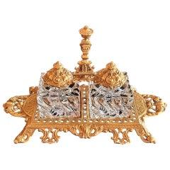 Baccarat Louis XVI Style Inkstand