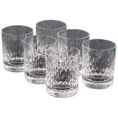 Baccarat 'Paris' Cut Crystal Tumbler Glass Set
