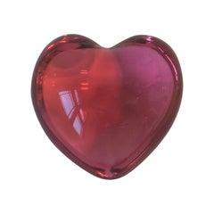 Baccarat Pink Heart Paperweight or Decorative Object