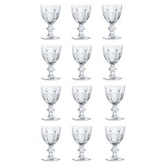 Baccarat Set 12 Clear Water Crystal Glasses