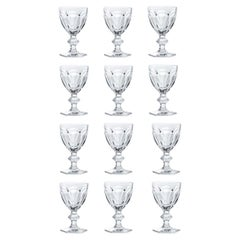 Baccarat Set 12 Clear Wine Crystal Glasses