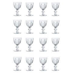 Baccarat Set 16 Clear Water Crystal Glasses