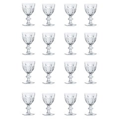 Baccarat Set 16 Clear Wine Crystal Glasses