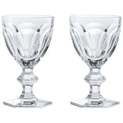 Baccarat Set 2 Clear Crystal Wine Glasses