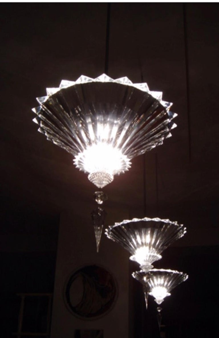 Modern Baccarat Set of 2 Mille Nuits Ceiling Units Clear Crystal Medium Size For Sale