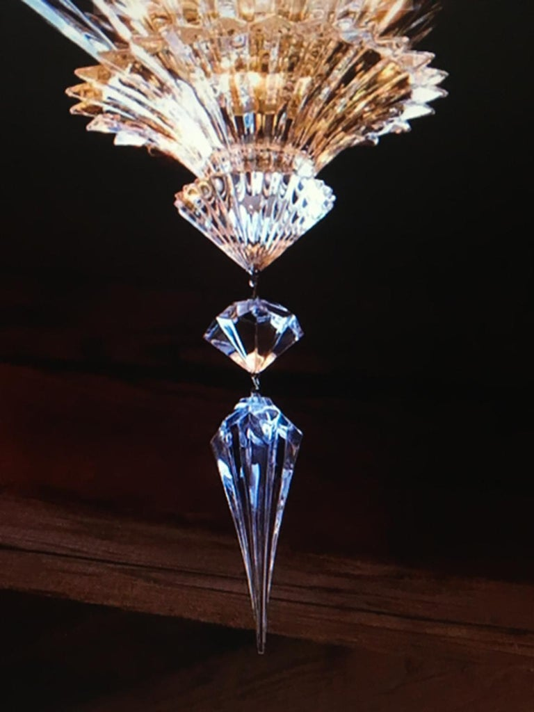 Baccarat Set of 2 Mille Nuits Ceiling Units Clear Crystal Medium Size In Excellent Condition For Sale In Brescia, IT