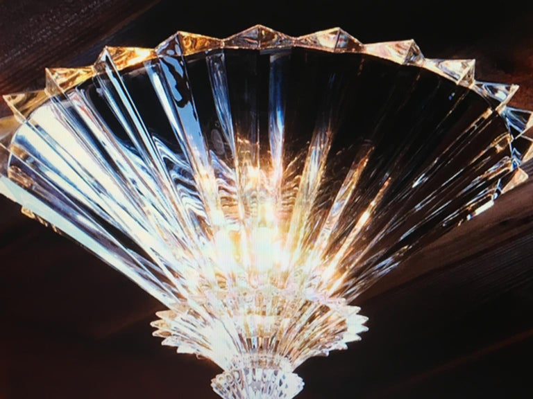 Contemporary Baccarat Set of 2 Mille Nuits Ceiling Units Clear Crystal Medium Size For Sale