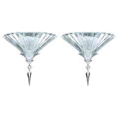 Baccarat Set of 2 Mille Nuits Ceiling Units Clear Crystal Medium Size