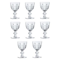 Baccarat Set 8 Clear Water Crystal Glasses