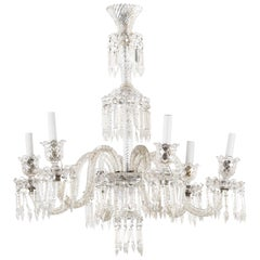 Baccarat Style 6-Arm Crystal Chandelier