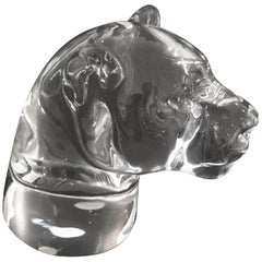 Baccarat Tiger Paper Weight