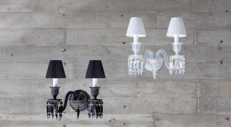Contemporary Baccarat Wall Sconce Clear Crystal For Sale