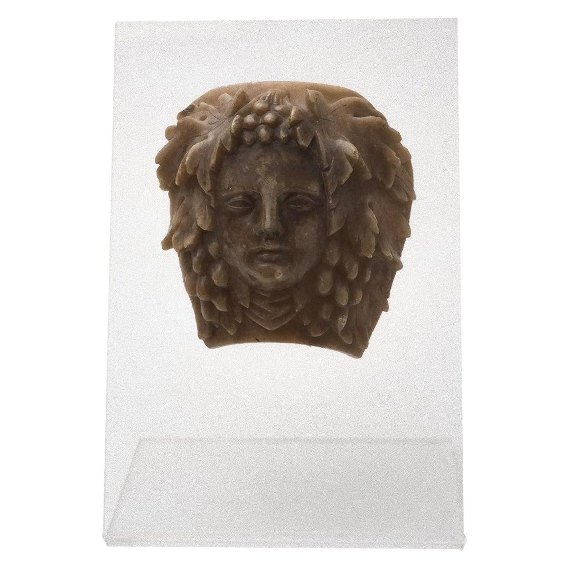 Bacchus Head, Decorative Wax, Italy, Early 20th Century