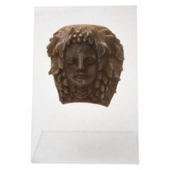 Bacchus Head, Decorative Wax, Italy, Early 20th Century