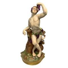 Bacchus Porcelain Figurine