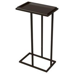 Bacco Cantilever Pedestal in Steel Frame Powder Coated in Pitch Black