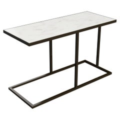 Bacco Cantilever Side Table in Marble and Powder Coated Steel
