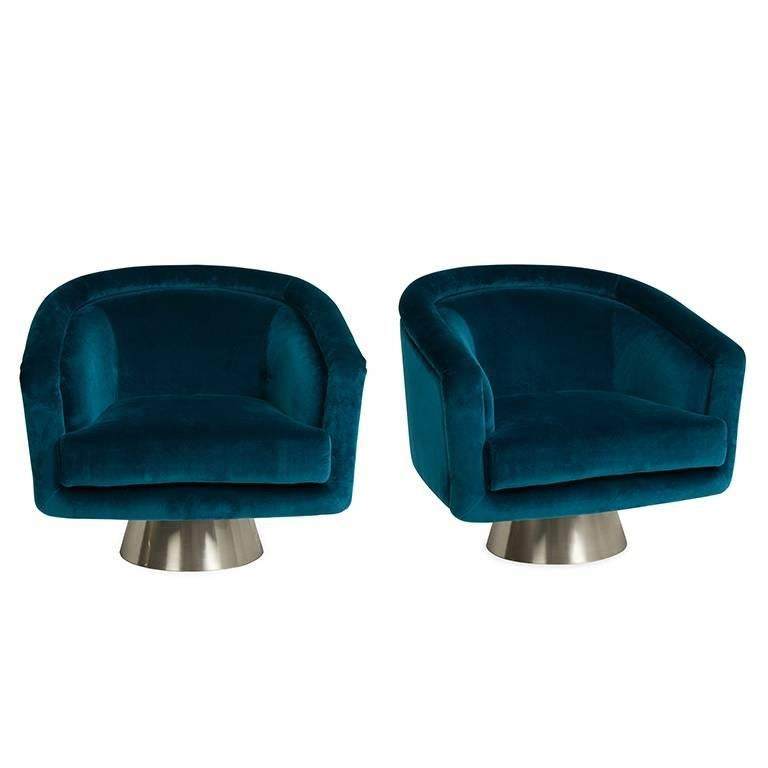 Superieur Bacharach Reef Velvet Swivel Chair