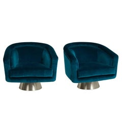 Bacharach Velvet Swivel Chair