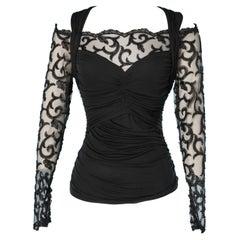 Back beaded arabesque Top Fontana Couture