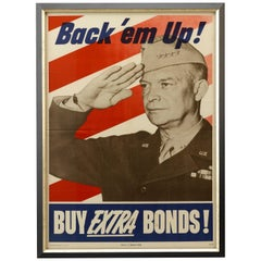 """Back 'em Up!"" General Dwight D. Eisenhower World War II Bond Poster, 1944"