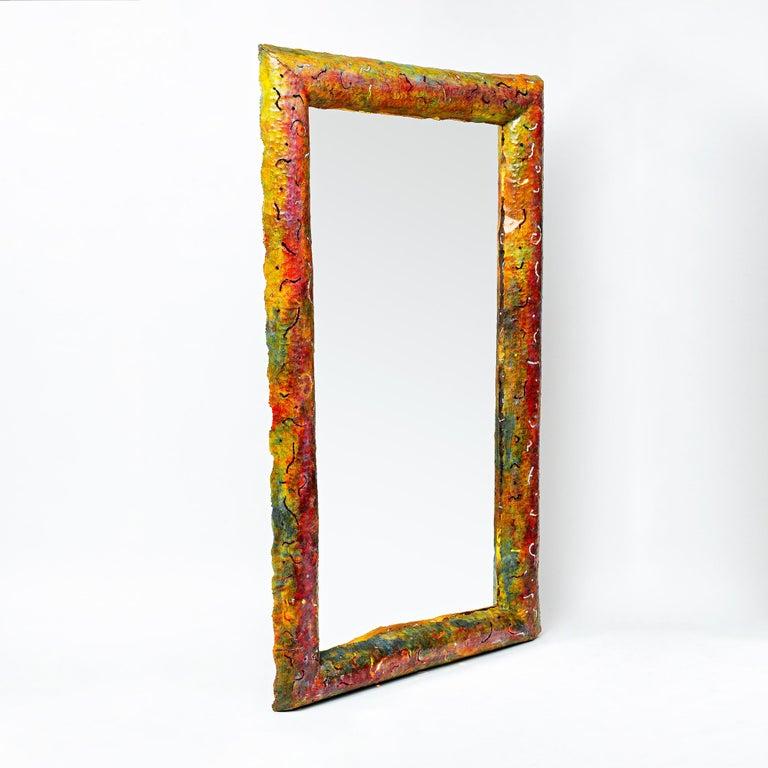Post-Modern Back-Lit Unique Mirror by Bohuslav Horak, Germany, circa 1990 For Sale