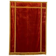 Back of Altar-Italy-19 ° Century-Red Silk Velvet