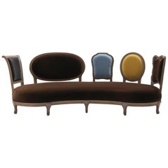 Back to Back sofa  - solid hand-carved walnut frame, designed by Nigel Coates