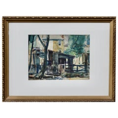 """""""Back Yards"""" Watercolor on Paper, Signed Lower Right """"A P Martino"""""""