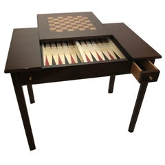 Backgammon Chess /Checkerboard Top Flip Top Game Table
